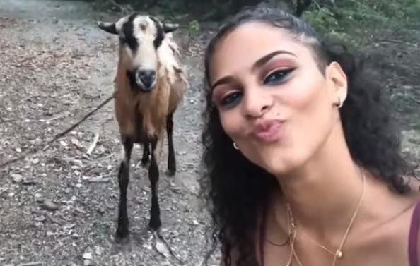 Cabra-chica-selfie-clip-vídeo-viral